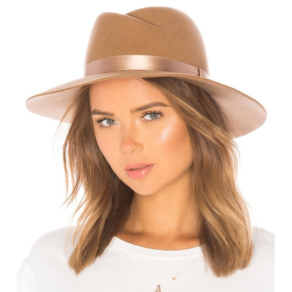 18d1f8be981 Rag and Bone Zoe Wool Felt Fedora Hat Camel L. M 5b79f02f74359bf8b30e327e